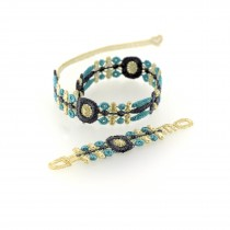 blue indian bracelet watch M of Missiu